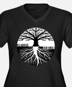 AS ABOVE SO BELOW Tree of life Plus Size T-Shirt