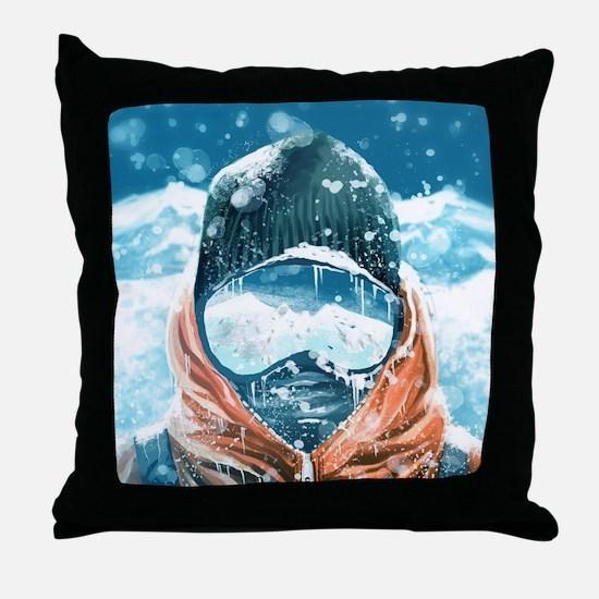 Cute Snowboard Throw Pillow