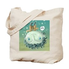 Cute Love swimming Tote Bag