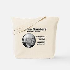 Sanders: Veterans Tote Bag
