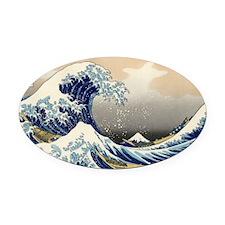 Great Wave Over Kanagawa (Kanagawa Oval Car Magnet