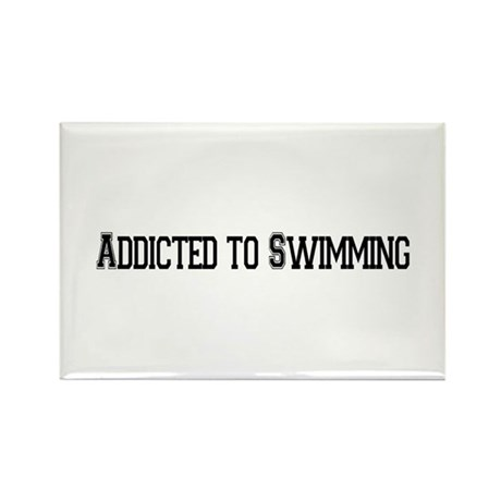 Addicted to Swimming Rectangle Magnet (100 pack)
