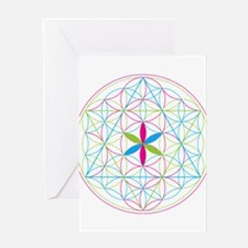 Flower of life tetraedron/merkaba Greeting Cards