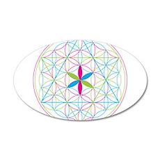 Flower of life tetraedron/merkaba Wall Decal