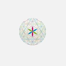 Flower of life tetraedron/merkaba Mini Button (10