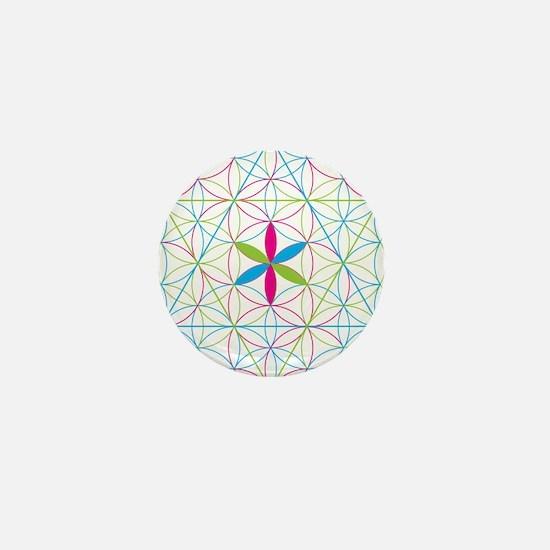 Flower of life tetraedron/merkaba Mini Button
