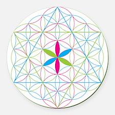 Flower of life tetraedron/merkaba Round Car Magnet
