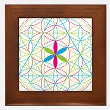 Flower of life tetraedron/merkaba Framed Tile