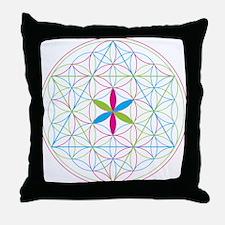 Flower of life tetraedron/merkaba Throw Pillow