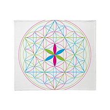 Flower of life tetraedron/merkaba Throw Blanket