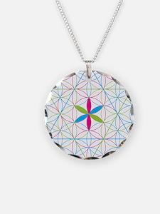 Flower of life tetraedron/merkaba Necklace