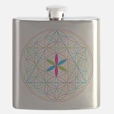 Flower of life tetraedron/merkaba Flask