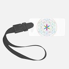 Flower of life tetraedron/merkaba Luggage Tag