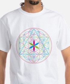 Flower of life tetraedron/merkaba T-Shirt
