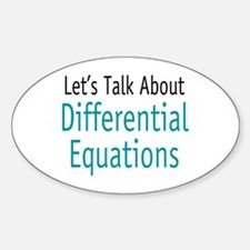Differential Equation Oval Decal