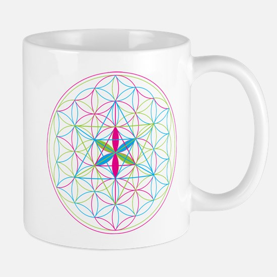 Flower of life Metatron Merkaba Mugs