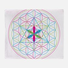 Flower of life Metatron Merkaba Throw Blanket