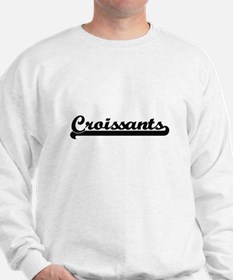 Croissants Classic Retro Design Sweatshirt