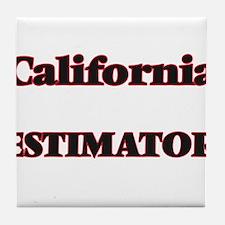 California Estimator Tile Coaster