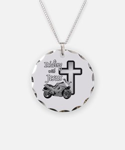 Riding with Jesus Necklace