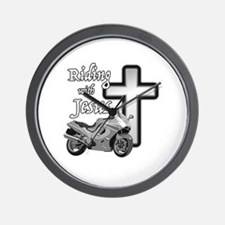 Riding with Jesus Wall Clock