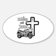 Riding with Jesus Decal