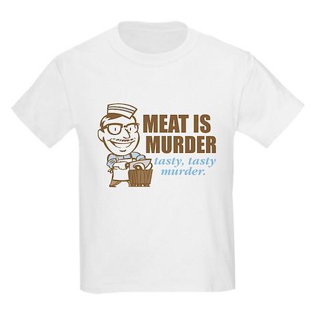 Meat is Murder Kids Light T-Shirt
