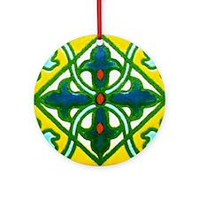 Classic Tile  shop Ornament (Round)