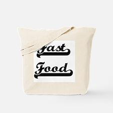 Fast Food Classic Retro Design Tote Bag