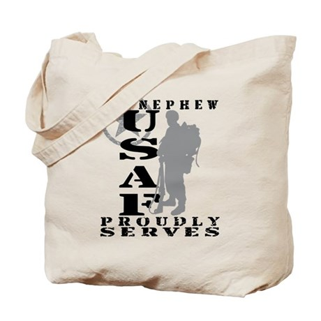Nephew Proudly Serves 2 - USAF Tote Bag