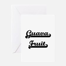 Guava Fruit Classic Retro Design Greeting Cards