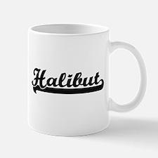 Halibut Classic Retro Design Mugs