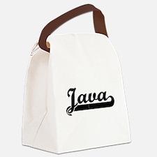Java Classic Retro Design Canvas Lunch Bag