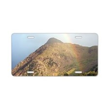 Welsh mountain and rainbow Aluminum License Plate