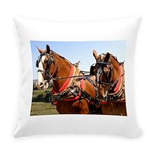 Belgian Horses Everyday Pillow