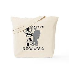 Grandson Proudly Serves 2 - USAF Tote Bag
