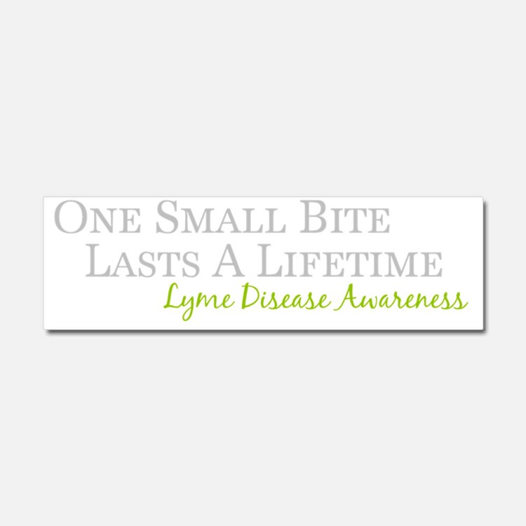 One Small Bite Lasts A Lifetime Car Magnet 10 x 3