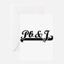 Pb&J Classic Retro Design Greeting Cards