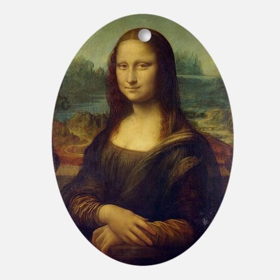 The Mona Lisa Oval Ornament