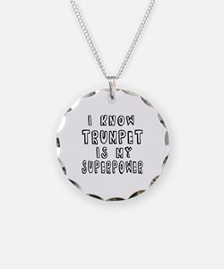 Trumpet is my superpower Necklace Circle Charm