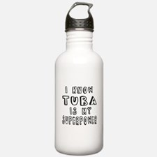 Tuba is my superpower Water Bottle
