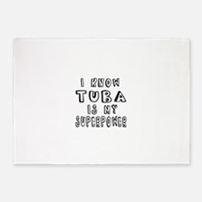 Tuba is my superpower 5'x7'Area Rug