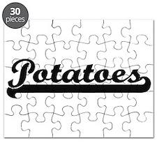 Potatoes Classic Retro Design Puzzle