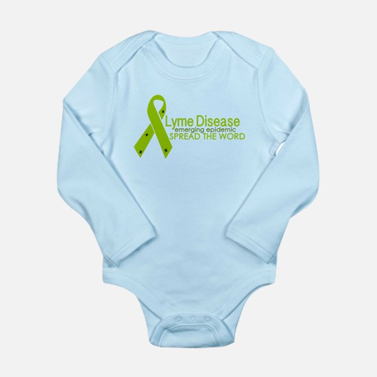 Lyme Disease Ribbon with ticks - Emergin Body Suit