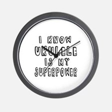 Ukulele is my superpower Wall Clock