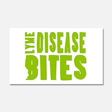 Lyme Disease Bites - Lime-green Car Magnet 20 x 12