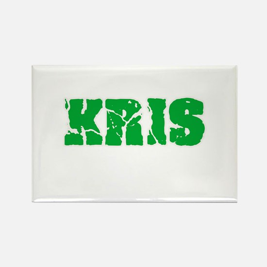 Kris Name Weathered Green Design Magnets