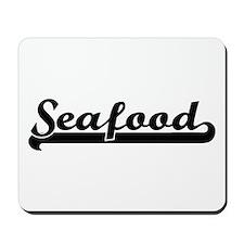 Seafood Classic Retro Design Mousepad