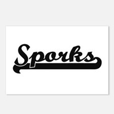 Sporks Classic Retro Desi Postcards (Package of 8)