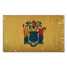 New Jersey State Flag VINTAGE Decal